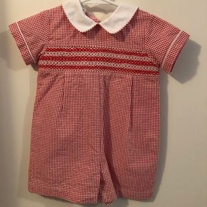 Cute smocked romper - 12months